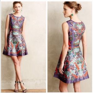 NEW $278 Anthropologie Pankaj Nidhi Octave Dress